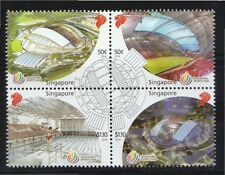 SINGAPORE 2014 SINGAPORE SPORTS HUB BLOCK OF 4 STAMPS COMP. SET IN MINT MNH