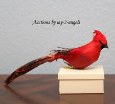 NWT Pottery Barn RED CARDINAL CLIP-ON Christmas Ornament *Nature *MORE AVAILABLE