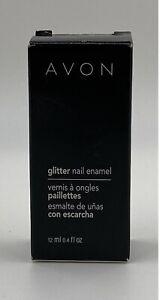 NOS Avon Glitter Nail Enamel Sparkling Gold Or Eclatant .4 Oz