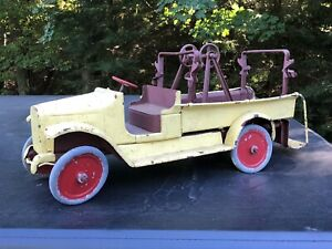 Rare 1920's Buddy L 205 Antique Fire Truck Hook Ladder Pressed Steel Project