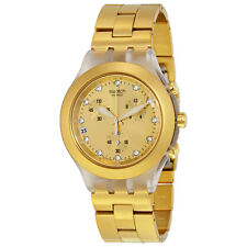 Swatch Full-Blooded Gold-Tone Stainless Steel Ladies Watch SVCK4032G