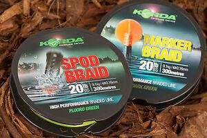 Korda Spod or Marker Braid 20lb 300m NEW