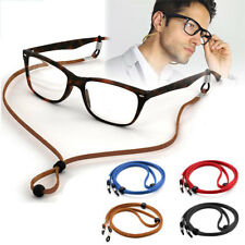 Adjustable Sunglasses Neck PU Cord Strap Eyeglass Glasses String Lanyard Holder