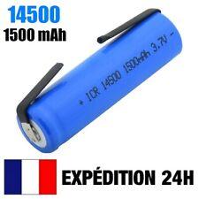 14500 - PILE BATTERIE RECHARGEABLE 1500 mAh LI-ION 3,7 V POUR LAMPE TORCHE...