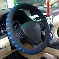 Blue & Black Foam Steering Wheel Cover/Glove Soft/Padded Car/Van Universal Fit