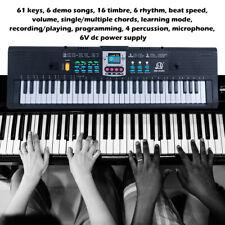 61 Keys Electronic Keyboard Digital Piano Kids Musical Development Tool w /MIC