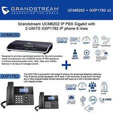 Grandstream UCM6202 IP PBX Gigabit with 2-UNITS GXP1782 IP phone 8 lines New