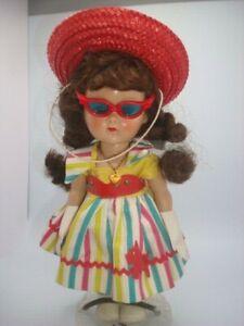 Vintage Vogue Ginny Walker Doll w outfit shoes socks necklace hat gloves glasses