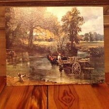 NOS Donald Art Co. NY Midcentury Litho Printing Cardboard 11x14 Country River