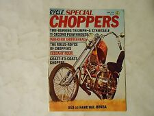 JUNE 1973 MOTORCYCLE WORLD SPECIAL CHOPPERS MAGAZINE,VOL.2 #1 ISSUE,SHOVELHEAD