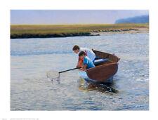 BOYS ART PRINT - CRABBING by Peter Quidley CRAB FISHING