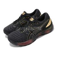 Asics Gel-Nimbus 22 Platinum Black Gold Mens Road Running Shoes 1011A779-001