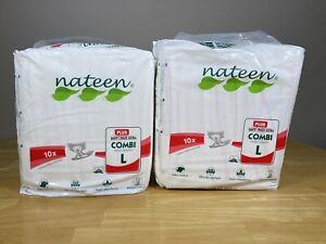 2 x Nateen Combi Plus (Large) Adult Diaper Nappies/Diapers - 10 Per Pack.