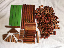 """Lincoln Logs Lot Of 130+ Pieces Good Condition over 100 1.5"""" Logs"""