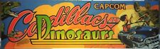 "Cadillacs and Dinosaurs Arcade Marquee 26"" x 8"""