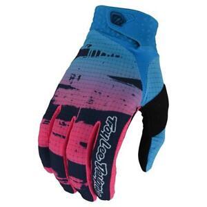 Troy Lee Designs LE AIR Gloves - Brushed Navy / Cyan - Motocross, BMX, MTB