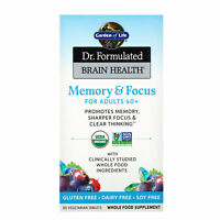 Garden of Life  Dr  Formulated Brain Health  Memory   Focus for Adults 40   60