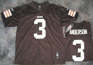 REEBOK CLEVELAND BROWNS DEREK ANDERSON JERSEY L YOUTH LARGE LRG 14-16 NFL