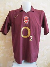 Arsenal London 2005/2006 Home HIGHBURY Size L shirt jersey maglia Henry Hleb era