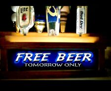 (MULTI COLOR LEDS) beer tap Handle Display w- Free Beer tomorrow Only bar sign