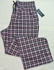 Tommy Hilfiger TH Hombre Pijama Pantalones de andar por casa L 36-38 Rojo Azul