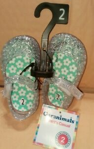 Garanimals Infant Casual clear with Green Flower insoles Jelly Shoes Size 2