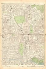1906 LARGE MAP-BACON 9 INCH - CLAPTON, DALSTON, HACKNEY