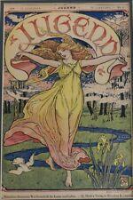 Authentic Jugend Magazine Cover, by Walter Crane, December 17 1898 Art Nouveau
