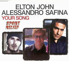 ELTON JOHN w/ Alessandro Safina Your Song INSTRUMENTAL & VIDEO CD Single SEALED