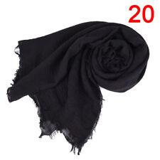 Premium Viscose Maxi Crinkle Cloud Hijab Scarf Shawl Soft Islam Muslim NewJD