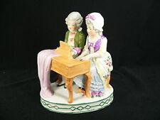 Paar am Klavier / älteres Figurenpaar Handbemalt Carl Scheidig, Reichmannsdorf