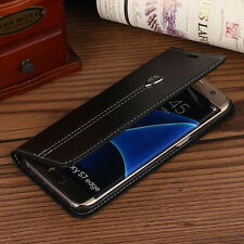 Premium Leather Flip Cover Stand Wallet Case Pouch Fr Samsung Galaxy S7/S7 edge