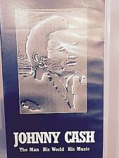 JOHNNY CASH THE MAN HIS WORLD HIS MUSIC RARE VHS ON VISIONARY PUNK LABEL DYLAN
