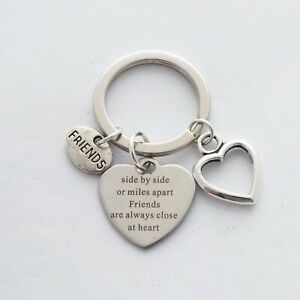 """""""Side by side or miles apart Friends are always close at heart"""" Inspire Keyring"""