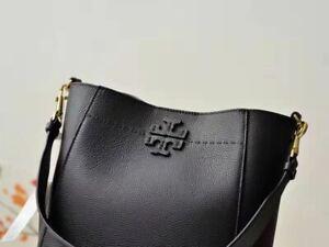 NEW TORY BURCH Large Black Leather Tote Shoulder Bag