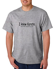 Bayside Made USA T-shirt I Know Karate and other Japanese words