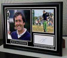 "Seve Ballesteros Golf Framed Canvas Tribute Print Signed ""Great Gift"""