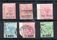 Mauritius QV 1876-78 Surcharged overprint collection WS13892