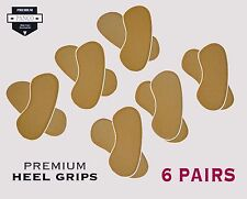 12 Grips (6 Pairs) Premium Shoe Heel Grip Pad Cushion-Prevents Painful Heel Cuts
