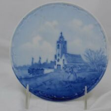 RXC Bavaria Tea Tile Delft Germany Canal Scene Church Boats