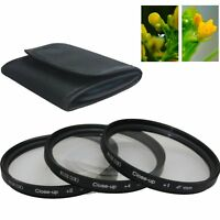 67MM Close Up Macro Lens Kit +1 +2 +4  for Canon Nikon Sony DSLR Camera