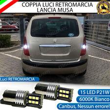 COPPIA LAMPADE RETROMARCIA LANCIA MUSA P21W 15 LED CANBUS 6000K BIANCO