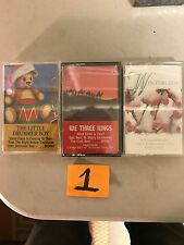 (3) Assorted Christmas Music Cassette Tapes  (G)
