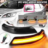 Dynamic Wing Mirror LED Indicator Turn Signal Light For Ford Focus MK2 3 Mondeo