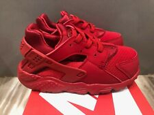 Nike Huarache Run Toddler Shoes University Red 704950-600 Size 8c