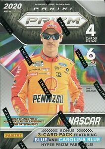 2020 Panini PRIZM NASCAR Racing Series Sealed Blaster Box EXCLUSIVE BLUE PRIZMS
