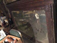 Antique Original Hotel Bar Mirror ,1870s Oak,Railroad days,requires Freight ship