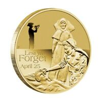 Australia 2012 ANZAC Day Lest We Forget - 25 April $1 UNC Coin Carded