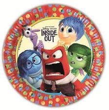 Disney Pixar Inside Out 23cm Paper Plate 8pk - Birthday Party Tableware