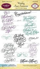 JUSTRITE CLEAR Stamps WEDDING INNER SENTIMENTS 12 Stamps CR-02193 Amy Tedder